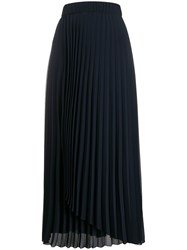 Peserico Asymmetric Detail Pleated Skirt 60