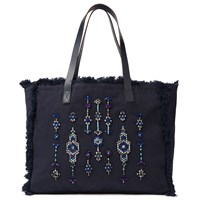 And Or Avalon Jewelled Tote Bag Navy