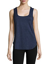 Lanston Sport Double Layer Racerback Tank Top Navy