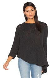 Inhabit Drape Asymmetrical Sweater Grey
