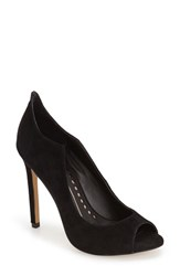 Women's Dolce Vita 'Isabel' Peep Toe Pump Black Suede