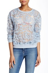 Romeo And Juliet Couture Embroidered Sweatshirt Blue