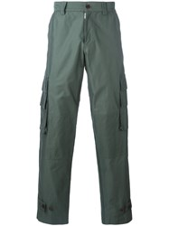 Undercover Metallic Side Pocket Trousers Green