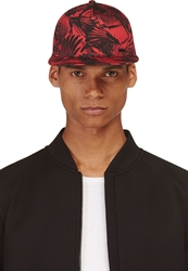 Diesel Red Bird Print Chiragy Cap