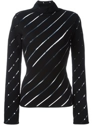 Fausto Puglisi Ladder Stitch Stripe Sweater Black