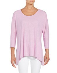 Lord And Taylor Asymmetrical Knit Top Purple
