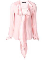 Calvin Klein 205W39nyc Pussy Bow Blouse Pink And Purple