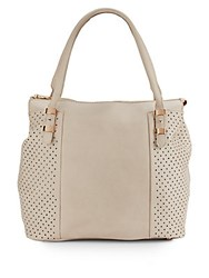 Urban Originals Mystify Perforated Side Tote Stone