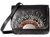 American West Bella Luna Multi Compartment Crossbody Flap Bag Black Cross Body Handbags
