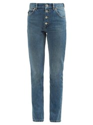 Balenciaga Tube High Rise Denim Jeans Light Blue