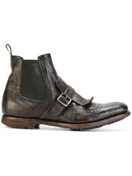 Church's Monk Boots Leather Rubber Brown