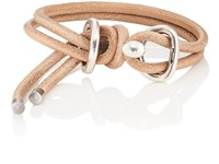 Giles And Brother Leather Wrap Bracelet Brown