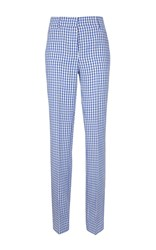 Dondup Marion Wide Legged Checkered Trousers Blue