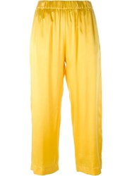 Forte Forte Elasticated Waist Trousers Yellow And Orange