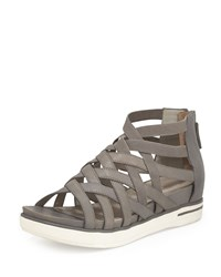 Eileen Fisher Airy Caged Leather Sneaker Graphite Grey Women's