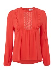 Suncoo Louise Crochet Blouse Red
