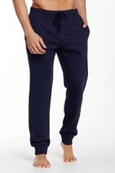 Majestic Rib Trim Fleece Lounge Pant Blue