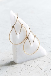 Urban Outfitters Crystal Ball Hoop Earring Gold