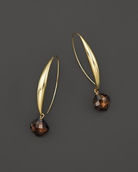 Bloomingdale's Smokey Quartz Drop Earrings In 14K Yellow Gold Brown Gold
