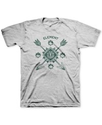 Element Men's Graphic Print T Shirt Wth White