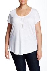 14Th And Union V Neck Slub Tee Plus Size White