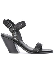 A.F.Vandevorst Ankle Strap Sandals Black