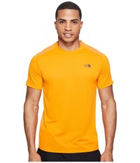 The North Face Versitas Short Sleeve Crew Exuberance Orange Men's Clothing Yellow