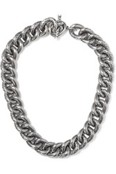 Bottega Veneta Oxidized Silver Necklace