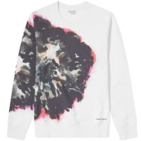 Alexander Mcqueen Painted Flower Sweat White
