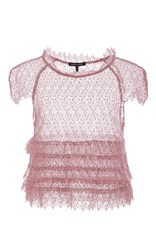 Marissa Webb Blush Austin Lace Cropped Shell Light Pink