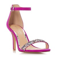 Head Over Heels Meeva Embellished 2 Part Sandal Shoes Pink
