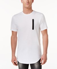 Inc International Concepts Men's Contrast Zipper T Shirt Only At Macy's White Pure
