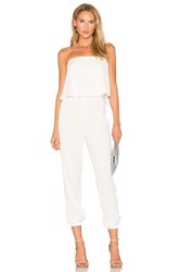 Roi Ruffle Top Jumpsuit White