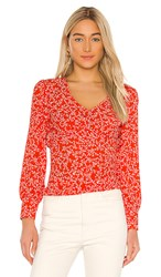 Cupcakes And Cashmere Portia Blouse In Red. Red Hots