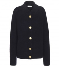 Balenciaga Cashmere And Wool Blend Cardigan Blue