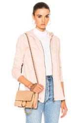 Atm Anthony Thomas Melillo French Terry Zip Front Jacket In Neutrals Pink Neutrals Pink