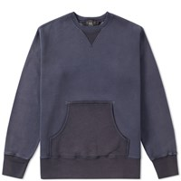 Rrl Patch Pocket Crew Sweat Blue