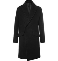 Wooyoungmi Wool Blend Boucle Coat Black