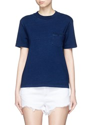 Ag Jeans 'Cinque' Patch Pocket T Shirt Blue