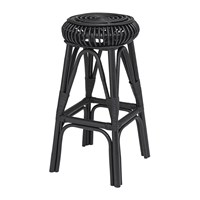 Bloomingville Haze Rattan Bar Stool Black