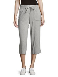 Andrew Marc New York Heathered Capri Pants Light Grey Heather