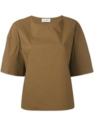 Christophe Lemaire Short Sleeved T Shirt Women Cotton 38 Brown