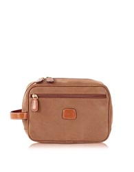Bric's Life Camel Micro Suede Travel Case