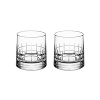 Christofle Graphik Double Old Fashioned Glasses Set Of 2
