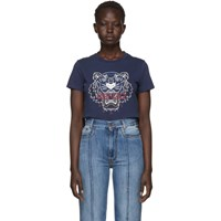 Kenzo Navy Limited Edition Bleached Tiger T Shirt