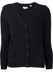 Chinti And Parker Elbow Patch Buttoned Cardigan Blue
