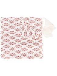 Forte Forte Printed Scarf Women Cotton One Size Nude Neutrals