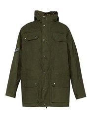 Vetements Military Style Cotton Parka Green