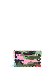 Valentino 'Camupsychedelic Rockstud' Leather Flap Clutch Multi Colour