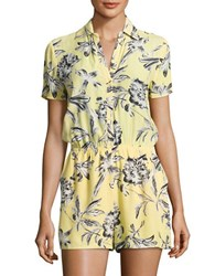 Bb Dakota Floral Crepe Romper Yellow